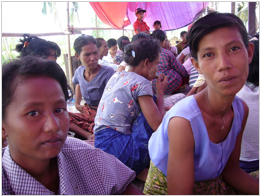 Thin Thin Aye (left) and Moe Kyi will receive assistance from UNDP to resume their livelihood.